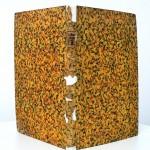 06a integrazione materica di coperta in carta decorata